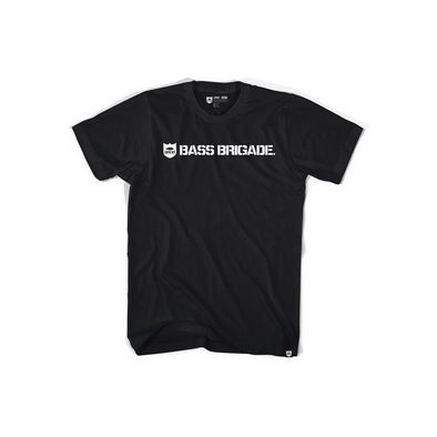 Bass Brigade Shield and Wordmark Tee - Black