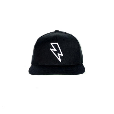 BOLT EDGE SNAPBACK HAT - BLACK/WHITE