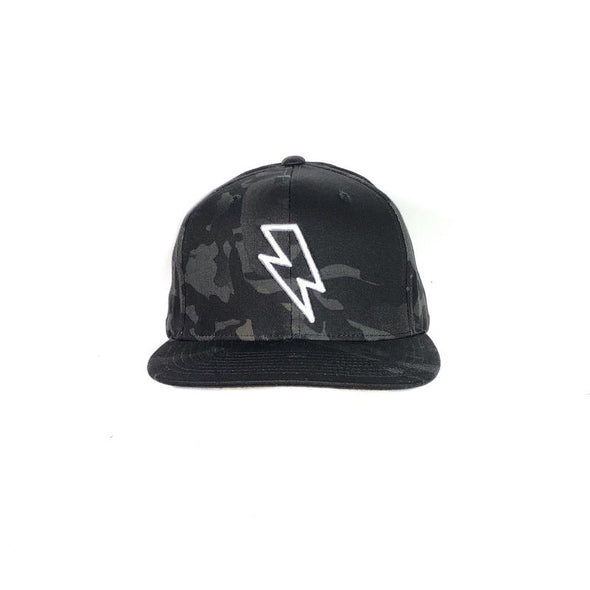 BOLT EDGE SNAPBACK HAT - MULTICAM BLACK