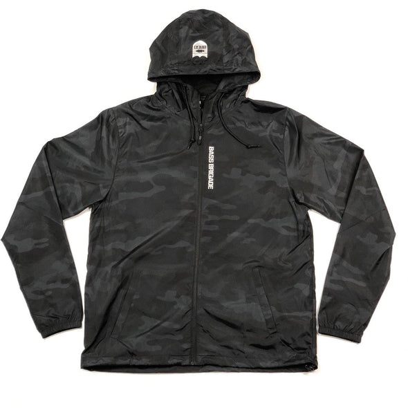 Bass Brigade Windbreaker Zip Jacket - Black Camo