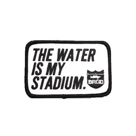 The Water Is My Stadium Patch - Black/White