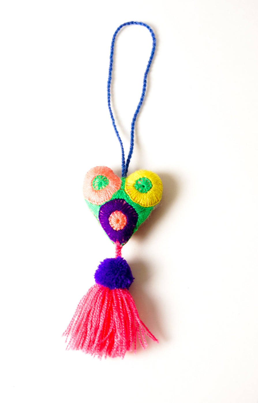 Red Heart Bag Tassel