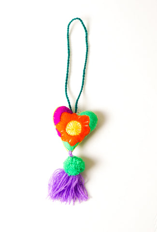Green Heart Bag Tassel