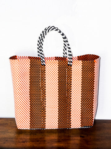 Lucca Orange Stripe Handbag