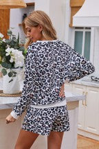 Long Sleeve Shorts Pajamas Set