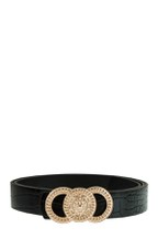 Belt with Double O with Lion Buckle