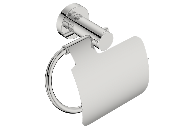 Toilet Paper Holder with Cover 4603 - Polished Stainless Steel - Bathroom Butler bathroom accessories