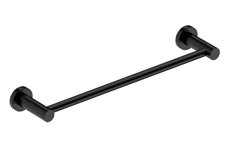 Single Towel Rail 17inch 4670 - Matte Black - Bathroom Butler bathroom accessories