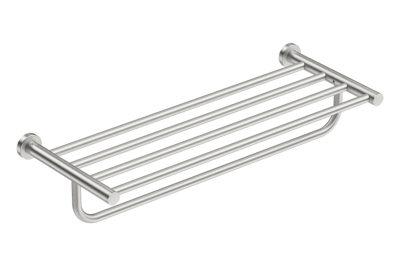 Towel Shelf with Hang Bar 25inch 4693 - Brushed Stainless Steel - Bathroom Butler bathroom accessories