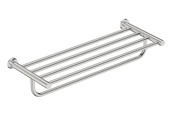 Towel Shelf with Hang Bar 25inch 4693 - Polished Stainless Steel - Bathroom Butler bathroom accessories