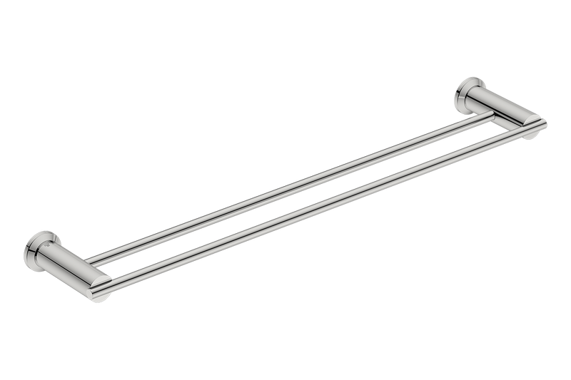 Double Towel Rail 25inch 5882 - Polished Stainless Steel - Bathroom Butler bathroom accessories
