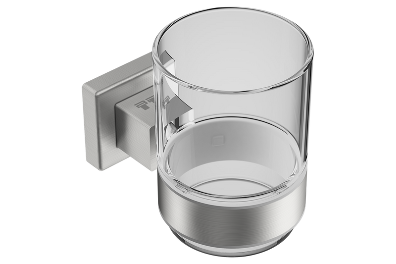 Glass Tumbler with Holder 8532 - Matte Black - Bathroom Butler bathroom accessories