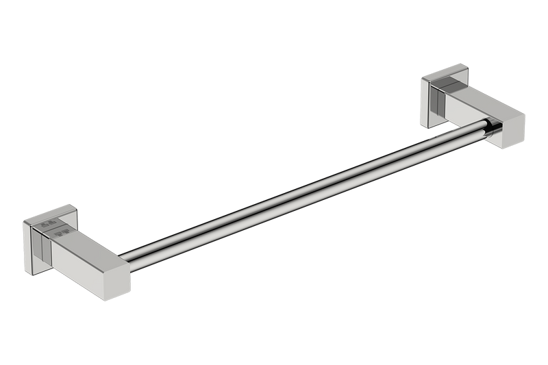 Single Towel Rail 17inch - Polished Stainless Steel - Bathroom Butler bathroom accessories