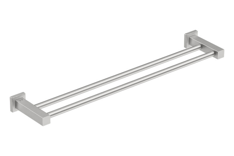 Double Towel Rail 25inch - Matte Black - Bathroom Butler bathroom accessories
