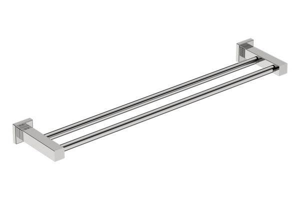 Double Towel Rail 25inch - Polished Stainless Steel - Bathroom Butler bathroom accessories