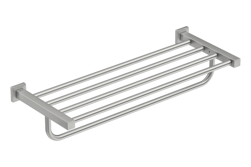 Towel Shelf with Hang bar 25inch 8593- Brushed Stainless Steel - Bathroom Butler bathroom accessories
