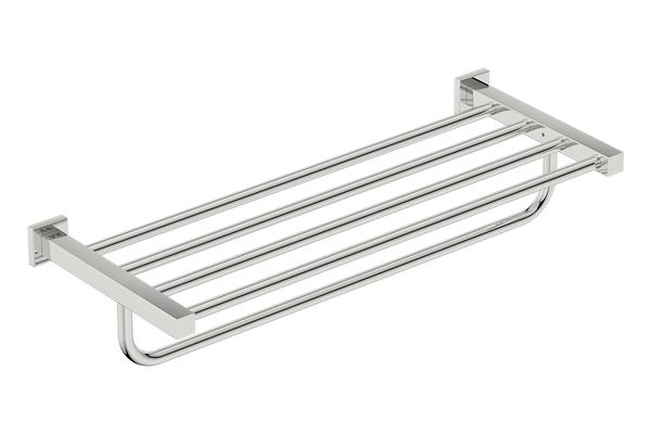 Towel Shelf with Hang bar 25inch 8593- Polished Stainless Steel - Bathroom Butler bathroom accessories