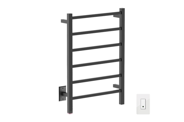 "Cubic 6 Bar 21"" Heated Towel Warmer with Wi-Fi enabled Switch"