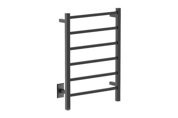 "Cubic 6 Bar 21"" Heated Towel Warmer with PTSelect"