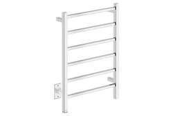 "Cubic 6 Bar 21"" Heated Towel Warmer with PTSelect -120V - Bathroom Butler bathroom accessories and heated towel rails"
