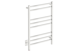 CUBIC 8 Bar 25inch Heated Towel Warmer with PTSelect temperature adjustment in polished stainless steel finish-120V - Bathroom Butler bathroom accessories and heated towel racks