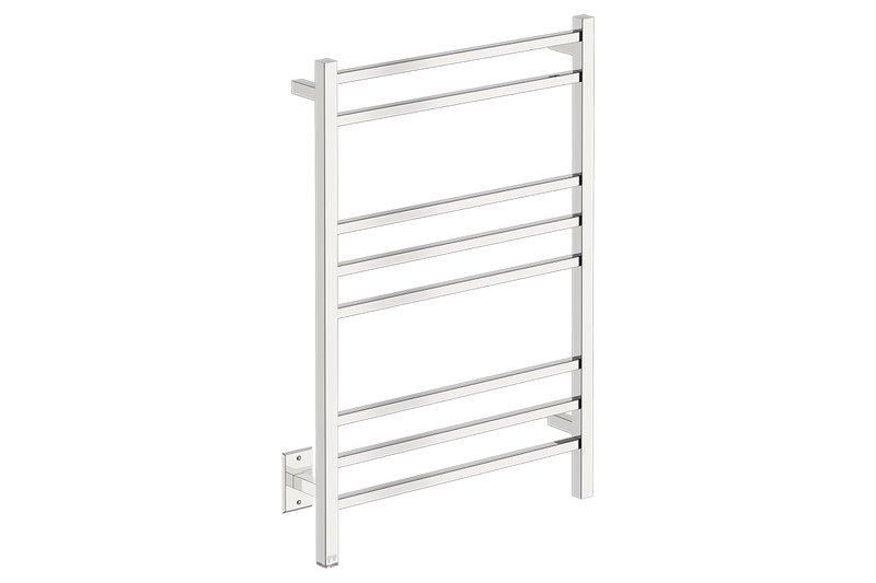 CUBIC 8 Bar 25inch Heated Towel Rack with PTSelect temperature adjustment in polished stainless steel finish-120V - Bathroom Butler bathroom accessories and heated towel rails