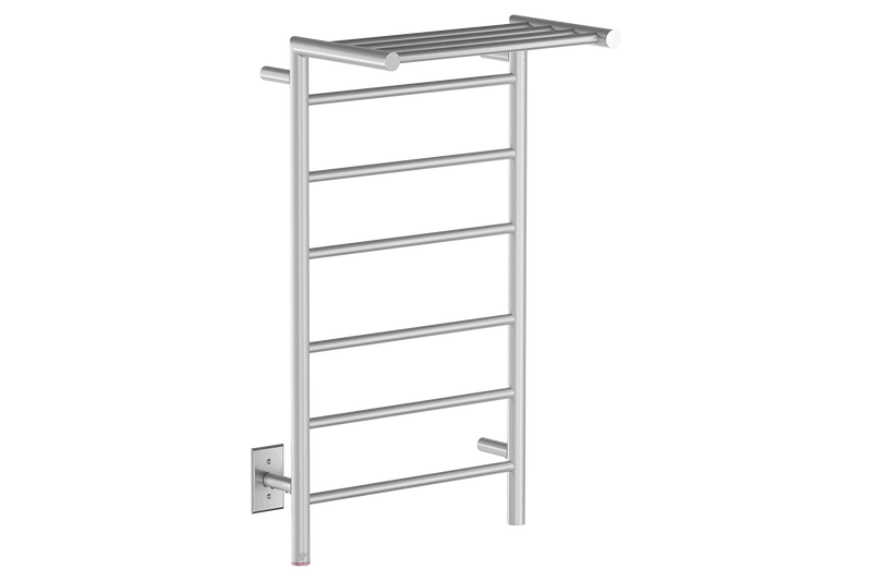 EDGE 10 Bar 20inch heated towel rack with PTSelect temperature adjustment in Brushed nickel like finish -120V - Bathroom Butler bathroom accessories and heated towel racks