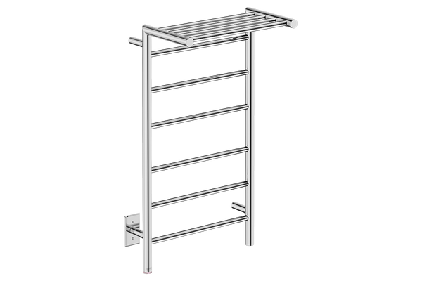 "Edge 10 Bar 20"" Heated Towel Warmer with PTSelect -120V - Bathroom Butler bathroom accessories and heated towel rails"