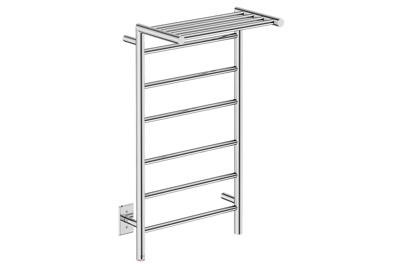 EDGE 10 Bar 20inch heated towel rack with PTSelect temperature adjustment in Polished Stainless Steel finish -120V - Bathroom Butler bathroom accessories and heated towel racks