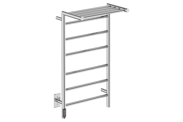 "Edge 10 Bar 20"" Heated Towel Warmer with TDC Timer -120V - Bathroom Butler bathroom accessories and heated towel rails"