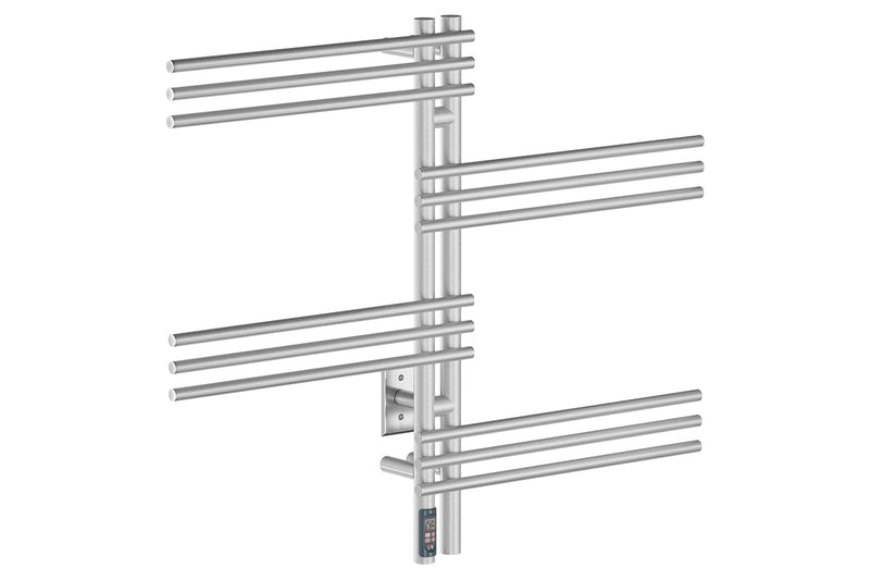 "Loft Duo 12 Bar 39"" Heated Towel Rack with TDC Timer -120V"