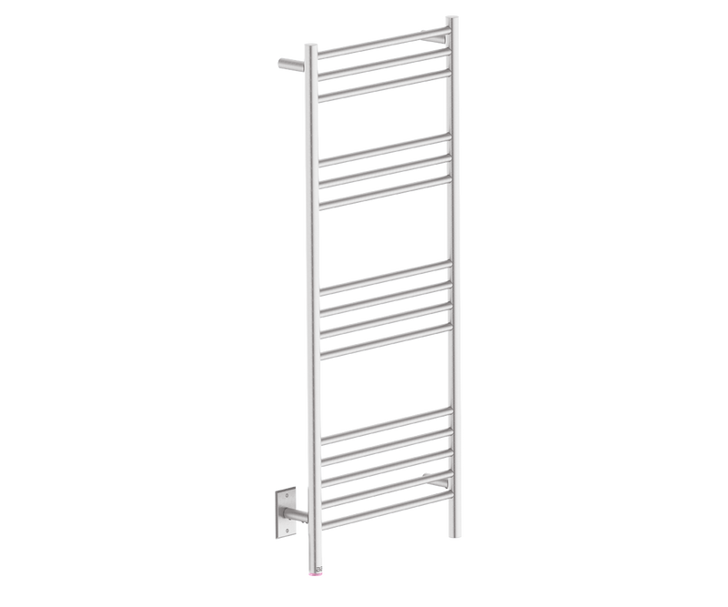 Bathroom Butler NATURAL 15 Bar heated towel rack with temperature adjustment in Brushed Nickel like Finish