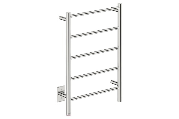 "Natural 5 Bar 20"" Heated Towel Rail with PTSelect -120V - Bathroom Butler bathroom accessories and heated towel rails"