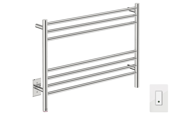 "Natural 7 Bar 32"" Heated Towel Warmer with Wi-Fi enabled Switch -120V - Bathroom Butler bathroom accessories and heated towel rails"