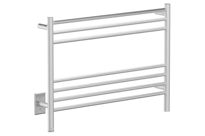 NATURAL 7 Bar 32inch heated towel rack with PTSelect temperature adjustment in Brushed nickel like finish -120V - Bathroom Butler bathroom accessories and heated towel racks