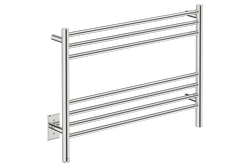 NATURAL 7 Bar 32inch heated towel rack with PTSelect temperature adjustment in Polished Stainless Steel finish -120V - Bathroom Butler bathroom accessories and heated towel racks