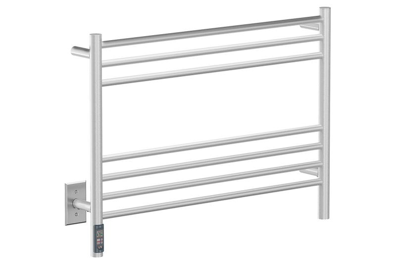 "Natural 7 Bar 32"" Heated Towel Warmer with TDC Timer -120V - Bathroom Butler bathroom accessories and heated towel rails"