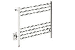 "Natural 7 Bar 25"" Heated Towel Rack with PTSelect -120V"