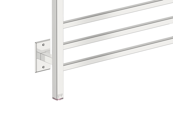"Cubic 8 Bar 25"" Heated Towel Warmer with PTSelect -120V - Bathroom Butler bathroom accessories and heated towel rails"
