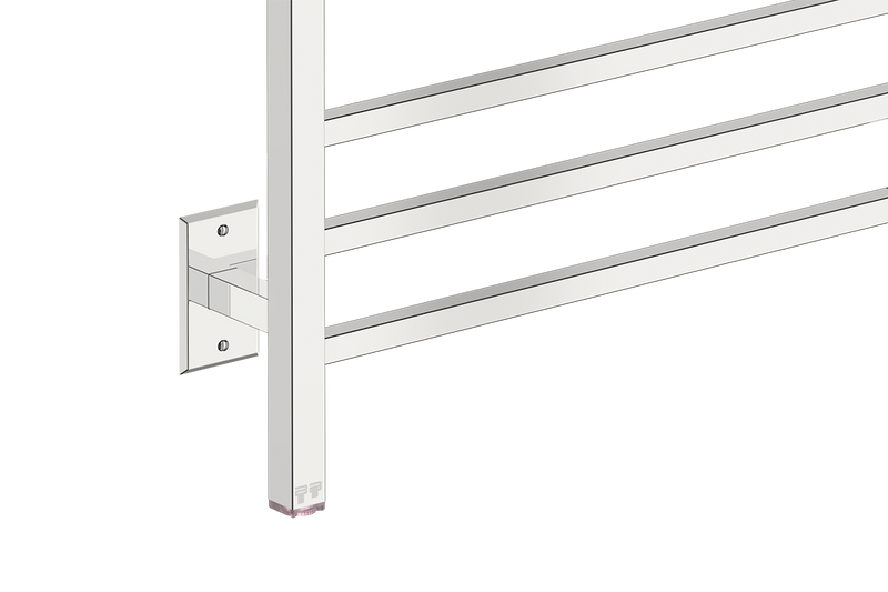 Cubic 8 Bar 25inch Heated Towel Rack temperature adjustment - Bathroom Butler bathroom accessories and heated towel racks
