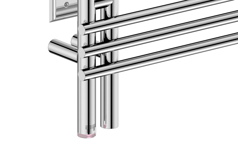 "Loft Duo 12 Bar 39"" Heated Towel Warmer with PTSelect temperature adjustment -120V - Bathroom Butler bathroom accessories and heated towel rails"