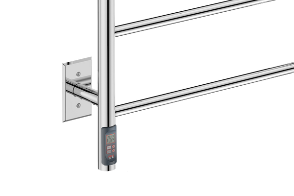 "Natural 5 Bar 20"" Heated Towel Rail with TDC Timer -120V - Bathroom Butler bathroom accessories and heated towel rails"