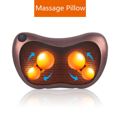 Massage Device Neck Relaxation Pillow Massage Vibrator Electric Shoulder Back Massager Car.shiatsu Massage Pillow With Heating - Midnight Fantasy AU