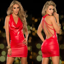 Load image into Gallery viewer, Babydoll Lingerie Sexy Hot Erotic Lingerie For Women Latex Leather Backless Night Clubwear Pole Dance Dress Sexy Costumes - Midnight Fantasy AU