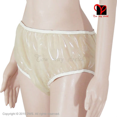 Transparent Rubber Latex Pants Loosely bloomers Rubber Underwear panty Briefs shorts undies Sexy smocking thong shorts KZ-002 - Midnight Fantasy AU