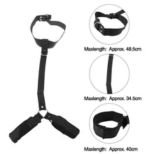 Load image into Gallery viewer, Neck Handcuffs Restraint Bondage Straps Fetish Sex Cuffs BDSM Sex Toys Behind Back Bondage Adjustable Adult Sex Tool - Midnight Fantasy AU