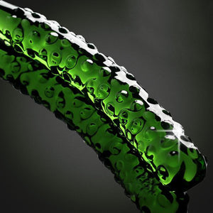 Clear Dildo Glass Crystal Artificial Waterproof Cucumber Dildos Adult Pleasure Toy for Women - Midnight Fantasy AU