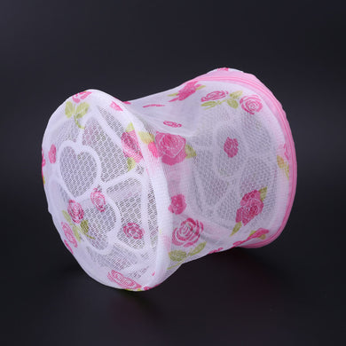 1PC Floral Women Hosiery Bra Lingerie Washing Bag Mesh Laundry Basket  Pouch Storage Washing Net Mesh Zip Bag - Midnight Fantasy AU