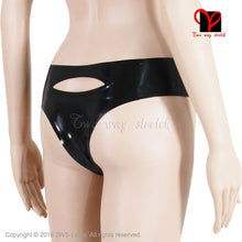 Load image into Gallery viewer, Black Backless Sexy Latex Pants  Shorts Rubber Underwear Underpants knickers pants undies Bottoms plus size XXXL KZ-105 - Midnight Fantasy AU