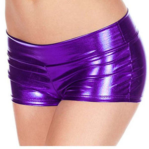 Women Sexy Metallic Panties Shiny Women's Underwear Shorts Lady Panty Fashion Lingerie Imitation Leather Briefs 6 Colors - Midnight Fantasy AU